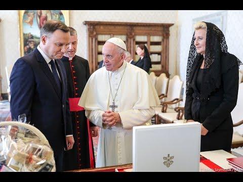 Para Prezydencka na audiencji u papieża Franciszka