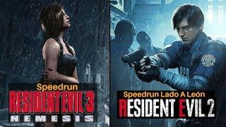 Re3 Speedrun Y Resident Evil 2 - Speedrun Any% Lado A leon 120fps - Gameplay En Español