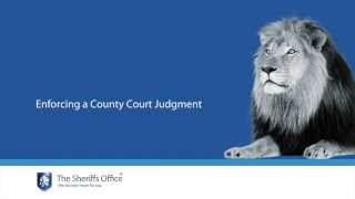 The Sheriffs Office   Enforcing a county court judgment (CCJ)