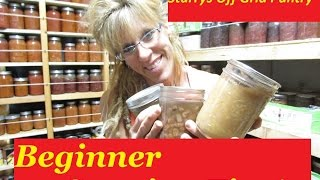 CANNING IS EASY:  CANNING TIPS FOR THE BEGINNER