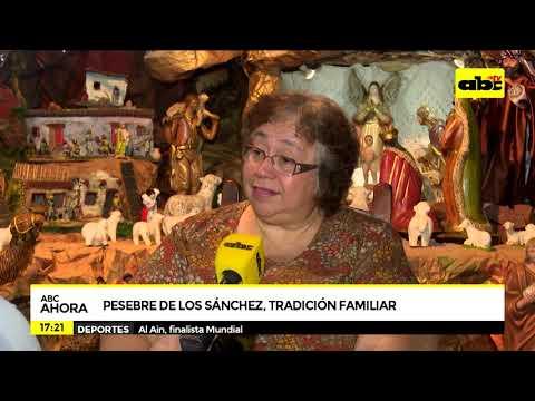 Tradición familiar: los Sánchez presentaron su pesebre con aires de campo