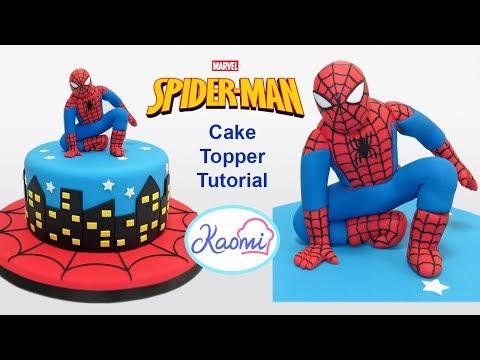 Cómo hacer a SPIDERMAN para tortas || Kaomi Tutoriales