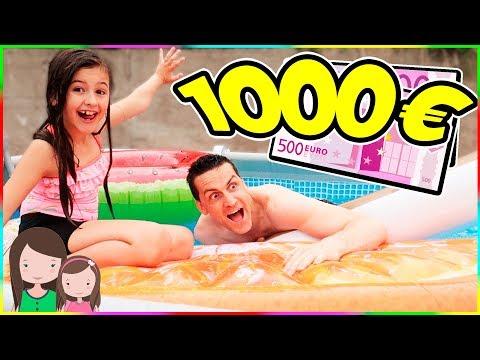 Wer ZULETZT in den POOL FÄLLT gewinnt 1000€ 😆 Last to fall into the pool challenge💶 Alles Ava