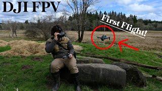 DJI FPV First Flight - My first time flying an FPV drone!
