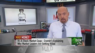 Buy the stocks of high-quality companies in the market that investors are dumping, Jim Cramer says