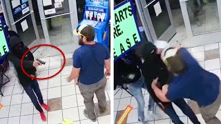 Former Marine Takes Down Armed Suspect #Shorts