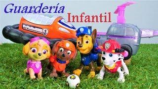 Juegos de la Patrulla Canina. Guardería Infantil.  Vídeo de juguetes.