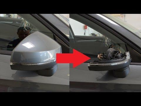 Mirror cover removal Audi A3/A4 2013
