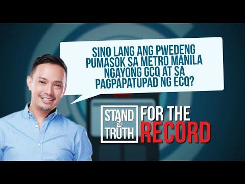 [GMA]  Quarantine pass system, muling ipatutupad sa pagsisimula ng ECQ   Stand for Truth