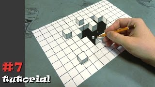 Смотреть онлайн 3Д рисунок на бумаге карандашом для начинающих