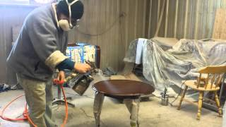 Refinishing A Ethan Allen Table At Timeless Arts Refinishing