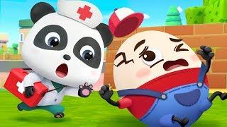 Humpty Dumpty | Doctor Caroon, Police Cartoon | Nursery Rhymes | Kids Songs | BabyBus