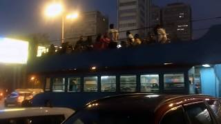 Royalty Free Footages   Double Decker Bus   Mumbai Marine lines joyride   Royalty Free Stock Footage