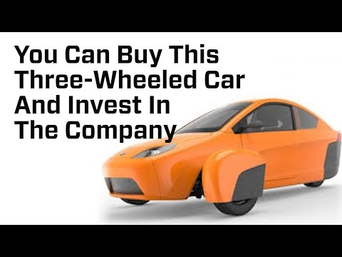 You Can Buy This Three-Wheeled Car And Invest In The Company