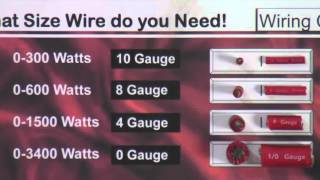 Install Tips: What Size Power Wire Do I Need?