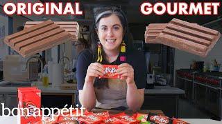 Pastry Chef Attempts To Make Gourmet Kit Kats | Gourmet Makes | Bon Appétit - dooclip.me
