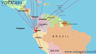 Flight routes to the Galapagos Islands