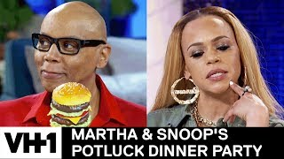 RuPaul & Faith Evans on Size 🍆 & Places to Have Sex 'Sneak' | Martha & Snoop's Potluck Dinner Party - Video Youtube