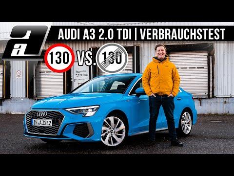 TEMPOLIMIT vs. UNBEGRENZT | Audi A3 Limousine (2.0 TDI, 150PS) | VERBRAUCHSTEST