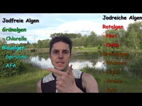 Schilddrüse - Jodmangel & Jodüberdosierung. Algen vs. jodiertes Salz, Fisch, Kuhmilch, ...
