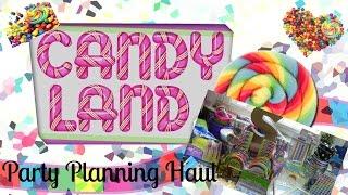 Party Planning Haul I Candyland Ice Cream Shoppe Theme