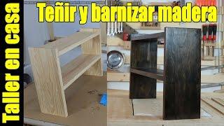 Teñir y barnizar madera con esponja de lavar platos