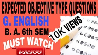 EXPECTED OBJECTIVE TYPE QUESTIONS   B. A. 6th SEM   EXAM SPECIAL   HOW TO JUDGE GLOBALISM ETC.