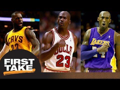 Kobe Bryant or LeBron James: First Take debates closest to being Michael Jordan | First Take | ESPN