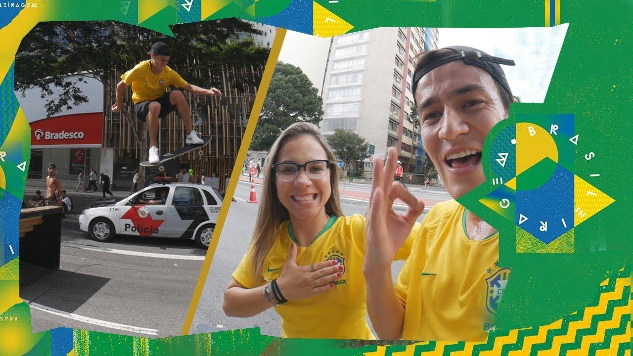 Dia de Brasileiragem na Av Paulista com Pâmela, Lucas Rabelo e mais - sobreskate