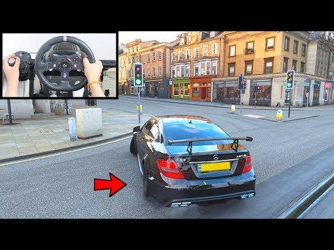 Forza Horizon 4 Drifting Mercedes C63 AMG (Logitech g920 Steering Wheel + Paddle Shifter) Gameplay