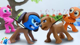 Tiny Turns on Angry Dog Mode - Tiny's Animal Stop Motion Animation Cartoons