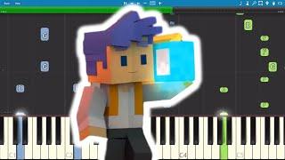 Turn It Up - Minecraft Original Song - Captain Sparklez - Piano Cover / Tutorial