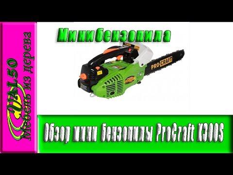Обзор мини бензопилы ProCraft K300S