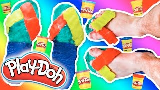 DIY Play Doh Sandals that You can WEAR!!🌈