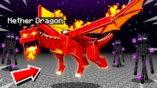 I TAMED a SECRET NETHER DRAGON in MINECRAFT NETHER DIMENSION!