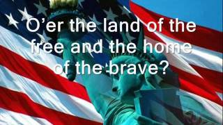 USA National Anthem with lyrics (by Jaimina Johnston)