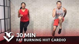 30 Minute Fat Burning HIIT Cardio Workout at Home for Women & Men - 30 Min Cardio Workouts by HASfit