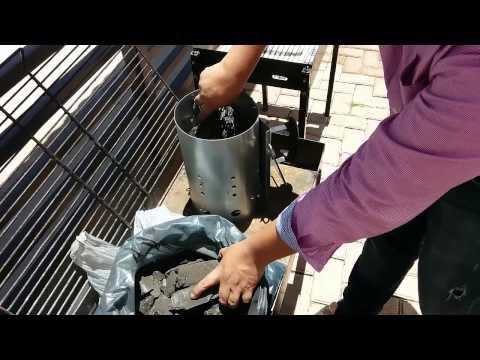 Cómo encender el carbón usando una chimenea (sin químicos) - How to light charcoal - Chimney