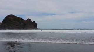 Auckland, New Zealand, Piha beach in summer time