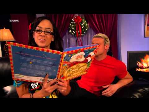 AJ Lee And Dolph Ziggler Passionately Kiss Under The Mistletoe: Raw, Dec. 24, 2012