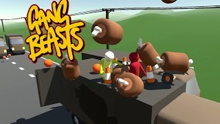 Gang Beasts - A Nice Sunday Drive [Father And Son Gameplay]