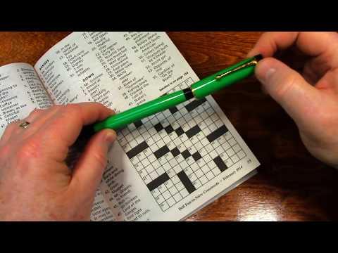 Crossword Puzzle Start to Finish - ASMR Sleep