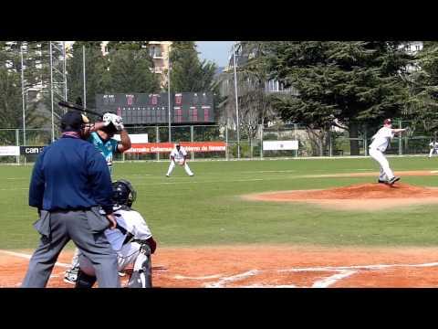Beisbol Navarra vs Tenerife Marlins Cámara lenta