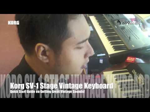 Korg SV1 Stage Vintage Piano Quick Start Guide