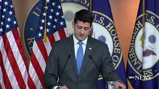 Speaker Paul Ryan announces he won't seek re-election | ABC News