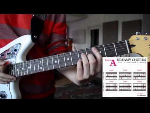 How to play EASY & DREAMY Guitar Chords #1   SHOEGAZE, DREAMPOP, AMBIENT   Tutorial