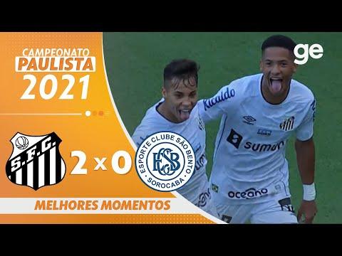 Vídeo - Santos 2 x 0 São Bento - Paulistão 2021!