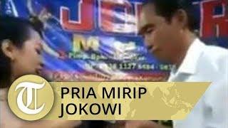 VIRAL Video Pria Mirip Jokowi Sawer Biduan Dangdut saat Hajatan, Ini Identitasnya
