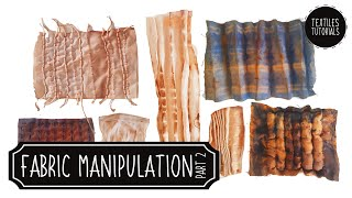 Fabric Manipulation With Stripes - Textiles Demonstrations - Part 2