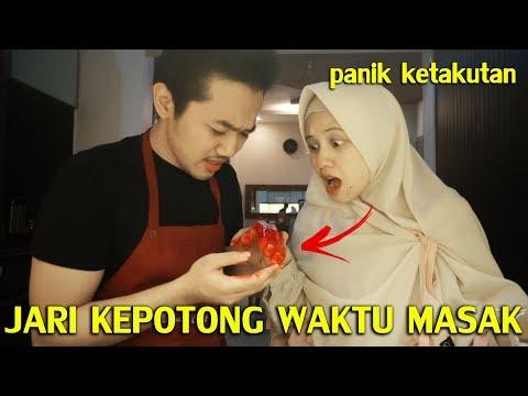 PRANK PACAR JARI KEPOTONG WAKTU MASAK !!